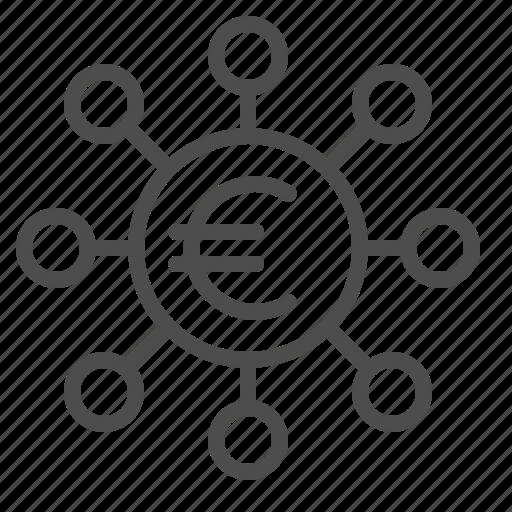 euro, money, transactions icon