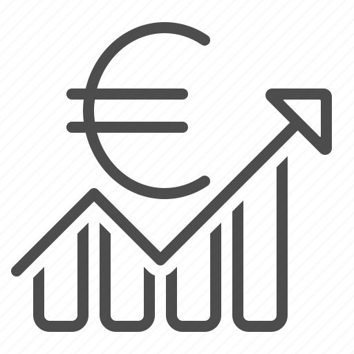 business, chart, euro, graph, investment, profit, report icon