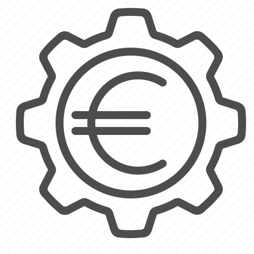 cog, euro, gear, sprocket icon