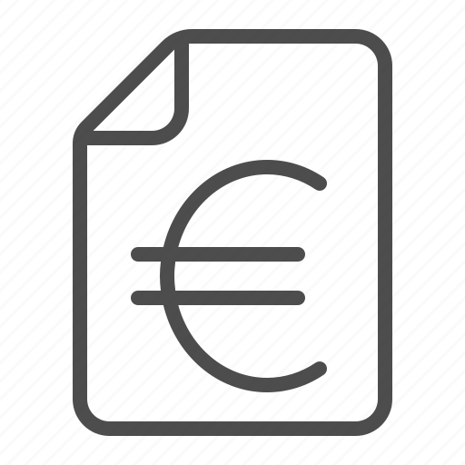 bill, document, euro, file, invoice, sheet of paper, tax icon