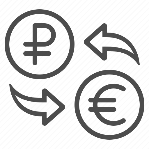 conversion, currency, euro, exchange rate, money, rouble, ruble icon