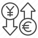 conversion, currency, euro, exchange rate, money, yen, yuan icon