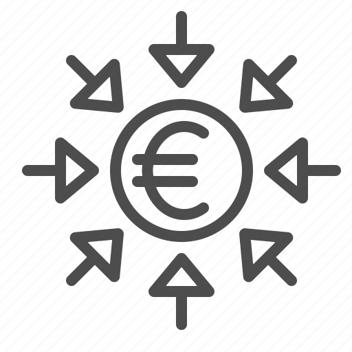 arrows, currency, euro, money, transactions icon