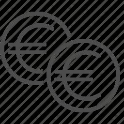 cent, coins, euro, money icon