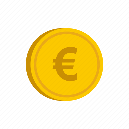 coin, currency, euro, europe, gold, metal, money icon