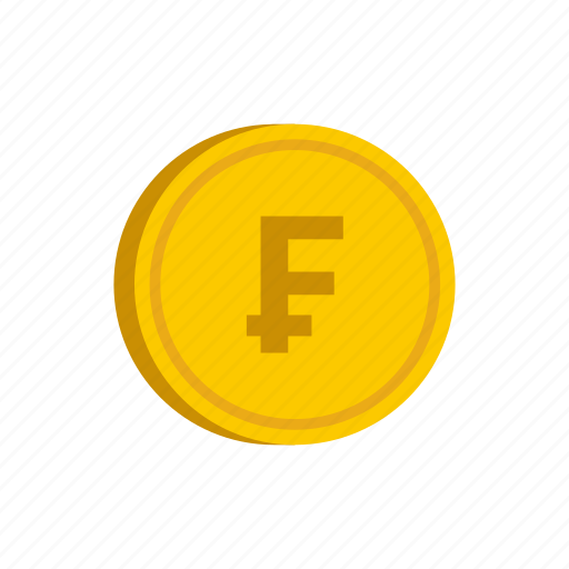 coin, currency, franc, gold, metal, money, switzerland icon