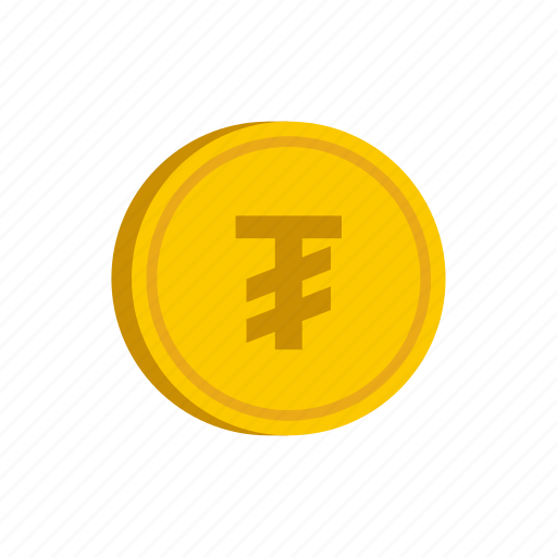 coin, currency, gold, metal, money, mongolia, tugrik icon