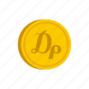 coin, currency, drachma, gold, greece, metal, money icon