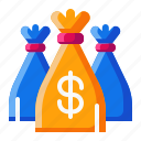 bag, currency, dollar, money icon