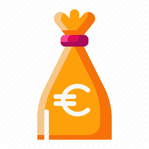 bag, currency, euro, money icon