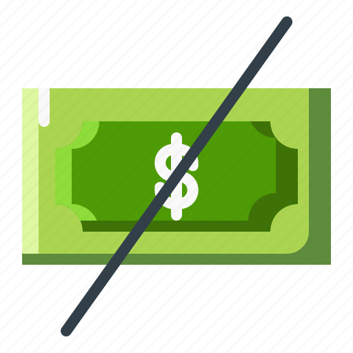 currency, dollar, money, no, sign icon