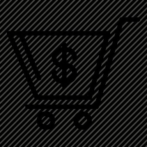 bag, basket, cart, shopping, trolley icon