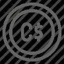 canada, canadian, dollar icon