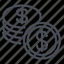 coin, money, currency, finance, cash, dollar, financial