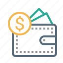 currency, dollar, finance, money, pocket icon