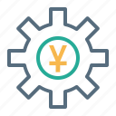 currency, finance, money, setting, sign, yuan icon