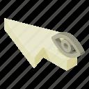 arrow, cartoon, concept, cursor, eye, isometric, pointer