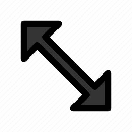 arrow, cursor, diagonal, mouse, pointer, resize icon