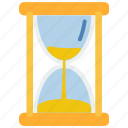 custom, hourglass icon
