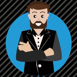 avatar, boss, client, creative, man, person, user icon