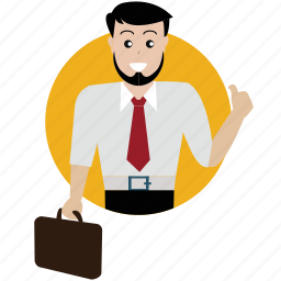 approve, boss, business, client, man, person, user icon