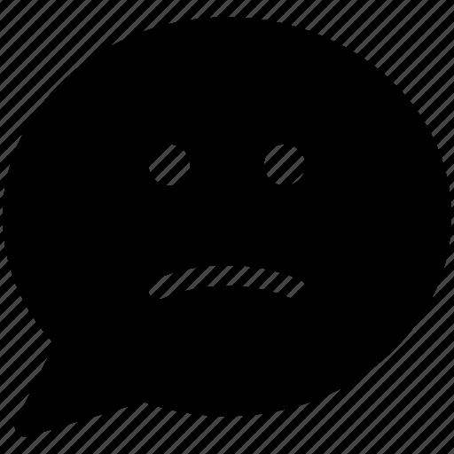 negative feedback, unhappy, unhappy customer icon