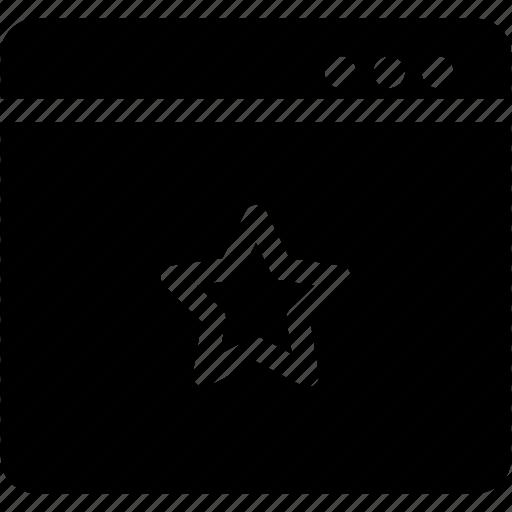 bookmark, rate, star, window icon