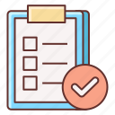 completed, feedback, survey icon