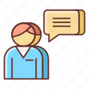 customer, feedback, service icon