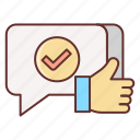 feedback, positive, review icon