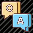 a, feedback, q, session icon