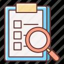 feedback, search, survey icon