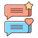 feedback, review, testimonials icon