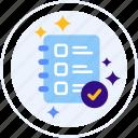 checklist, completed, feedback, survey icon