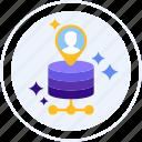 customer, data, storage, feedback icon