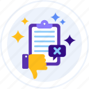 comment, feedback, negative, review icon