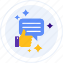 feedback, positive, rating, review icon