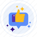 feedback, rating, review, satisfied icon
