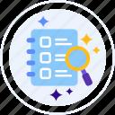 survey, feedback, search, find icon