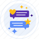 comments, feedback, review, testimonials icon