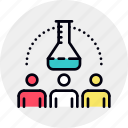 analysis, business, group, relations, research, team, teamwork icon