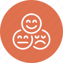 face, feedback, quality, rating, review, smile, vote