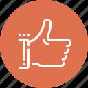 agree, favorite, gesture, good, like, thumb up, vote