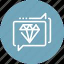 communication, conversation, customer, diamond, premium, service, support icon