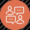 bubble, chat, communication, conversation, message, people, speech