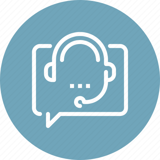communication, consulting, customer, headphone, online, service, support icon