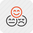 face, feedback, quality, rating, review, smile, vote icon