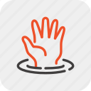 care, customer, hand, help, service, support, water icon