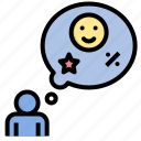 consumer, customer, expectation, hope, satisfaction icon