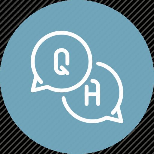 answer, communication, conversation, dialogue, education, knowledge, question icon
